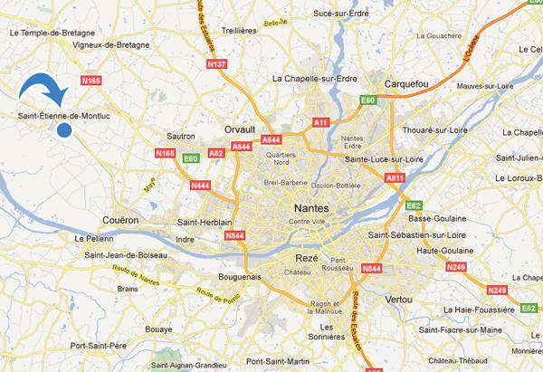 Accès à St Etienne de Montluc
